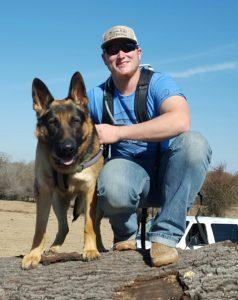 Landon Jacks and Bosque: K9 Handler and Back handler.